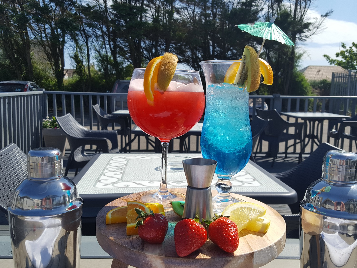 Cocktails on the Deck