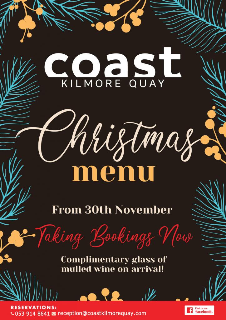 coast kilmore christmas menu